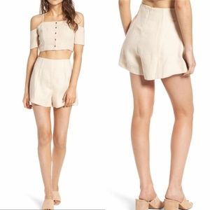ASTR The Label Rubi Shorts Neutral Size Small NWT